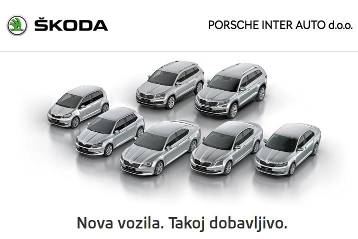 Škoda - Nova vozila. Takoj dobavljivo.